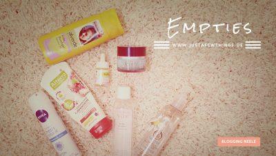 Empties Neele justafewthings leere Produkte