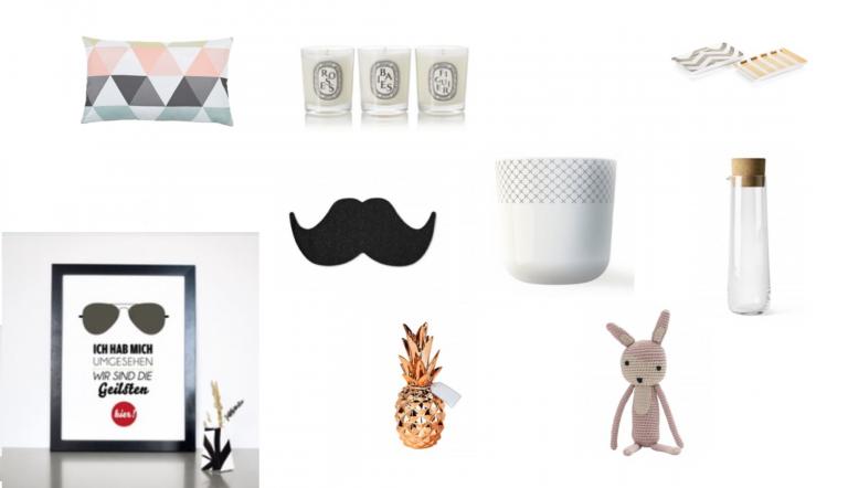 Tipps für Geschenke aus dem Bereich Interieur und für Männer