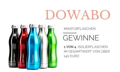 Gewinnspiel Facebook Dowabo Flasche