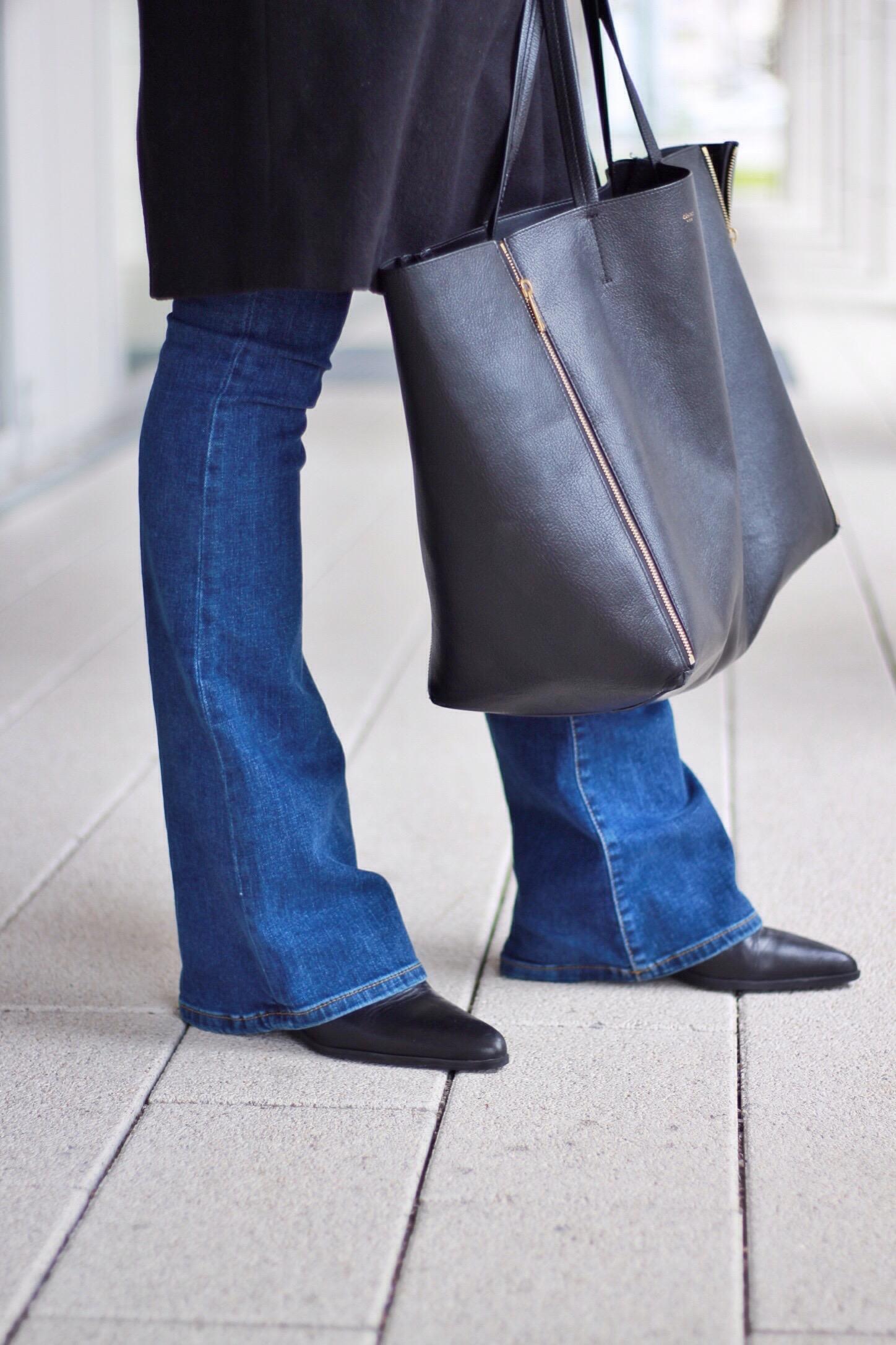 Schlaghose-kombinieren-Jeans-Tasche-Modetrend-2016
