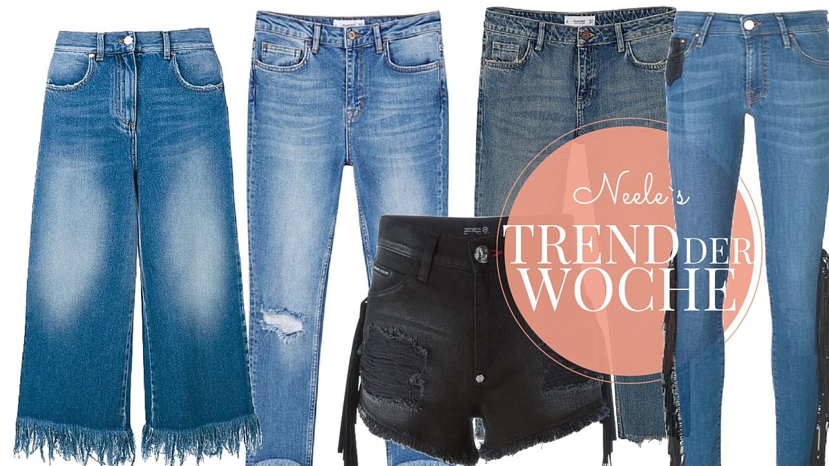 Modeblog Trend: Fransen Fringed Jeans die tollsten Modelle des Modetrends im Überblick