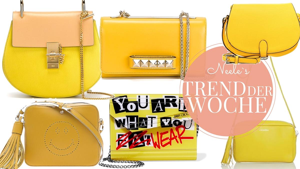 Gelbe Taschen - Modeblog berichtet über den Fashiontrend Gelbe Taschen, der Modetrend 2016