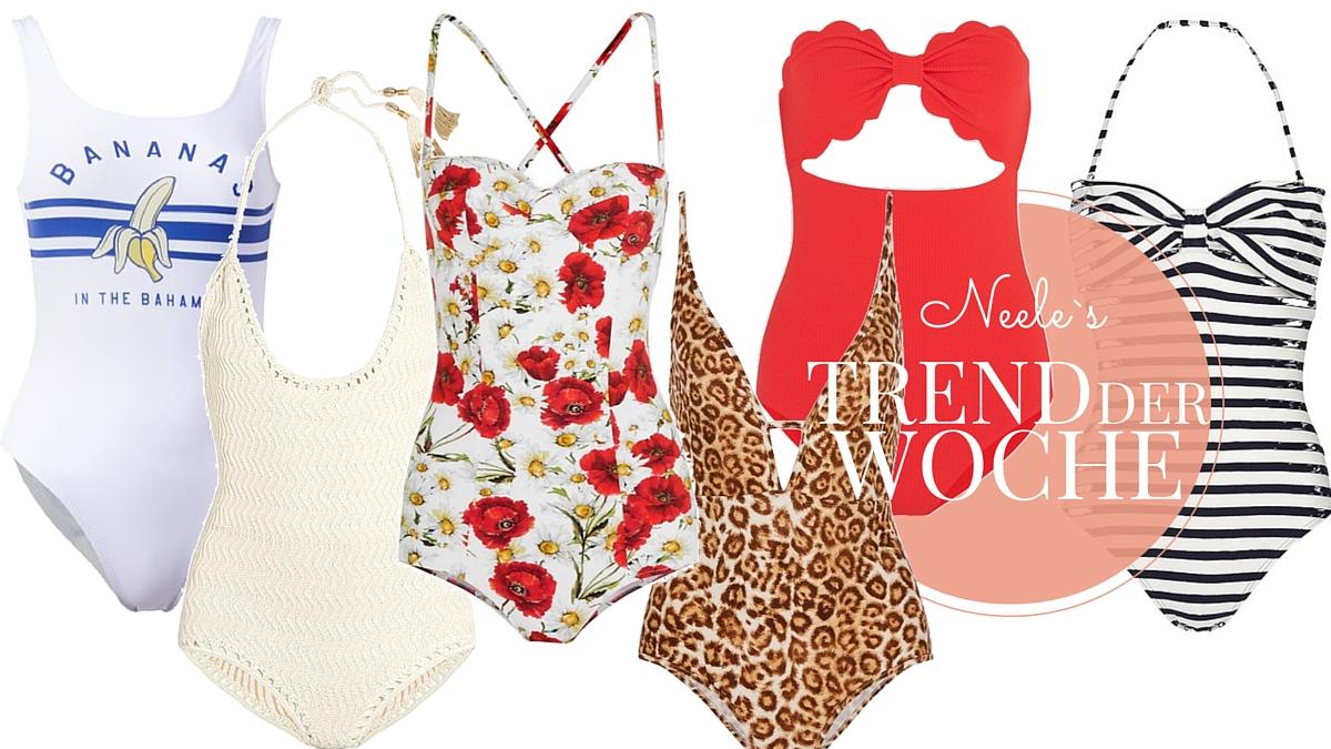 Badeanzüge einer der Modetrends im Sommer 2016 die schönsten Modelle