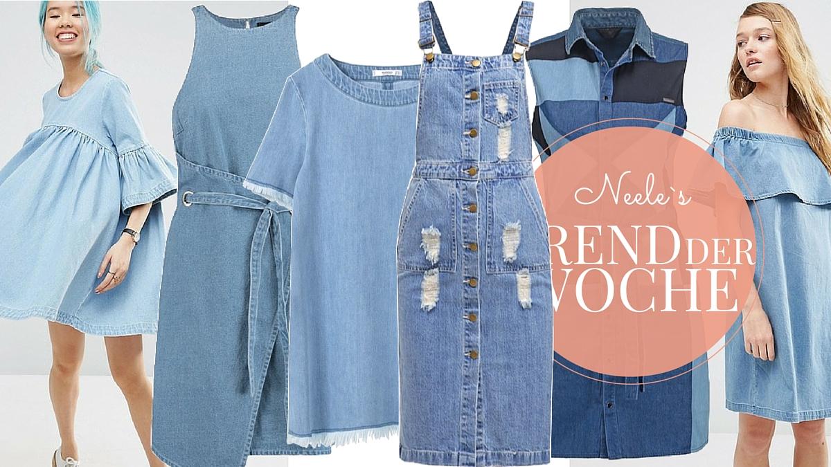 Jeanskleider sind ein großer Sommertrend 2016. Auf meinem Modeblog gibt es die schönsten Modell aus den Online Shops.