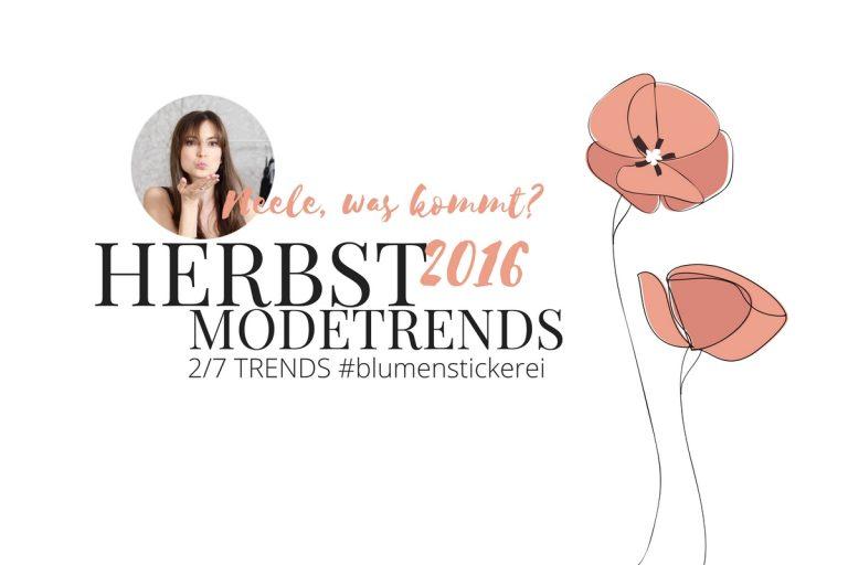 Der Modetrend Herbst Winter 2016 Blumenstickerei und die schönsten Teile aus den Online Shops auf meinem Modeblog