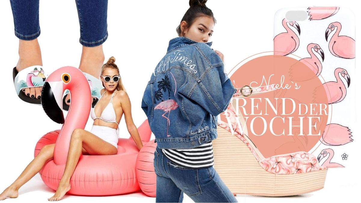 Flamingos sind einer der Trends des Sommers 2016. Die schönsten Teile aus den Online Shops auf meinem Modeblog