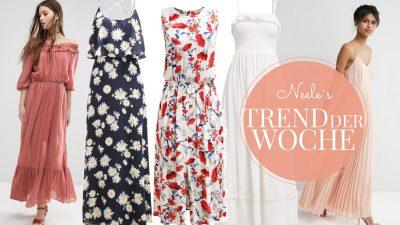 Maxikleider sind ein großer Mode Sommertrend ich zeige auf meinem Modeblog die schönsten Teile aus den Online Shops