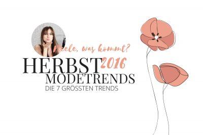 Modetrends des Herbst Winter 2016 auf meinem Modeblog. Fashiontrends, Streetstyle, Herbsttrends, Herbstfarben