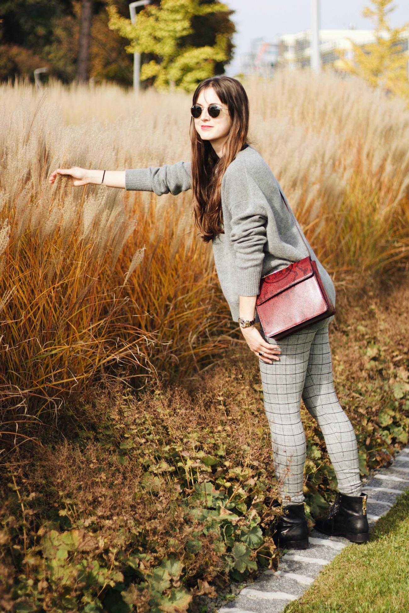 Karierter Mantel von H&M auf meinem Modebolog