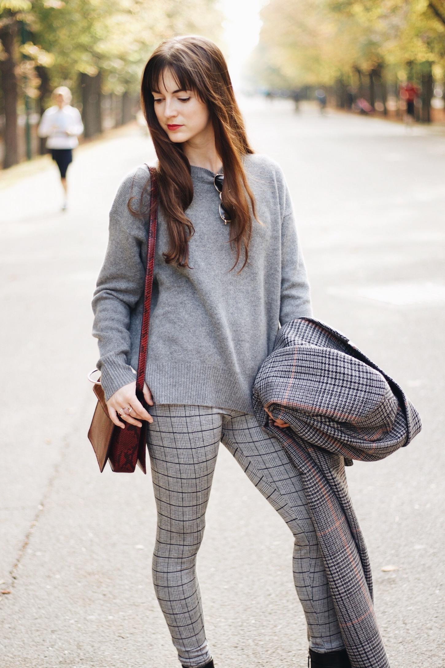 Karomuster ist ein Modetrend Herbst Winter 2016 ein Outfitpost heute auf meinem Modeblog