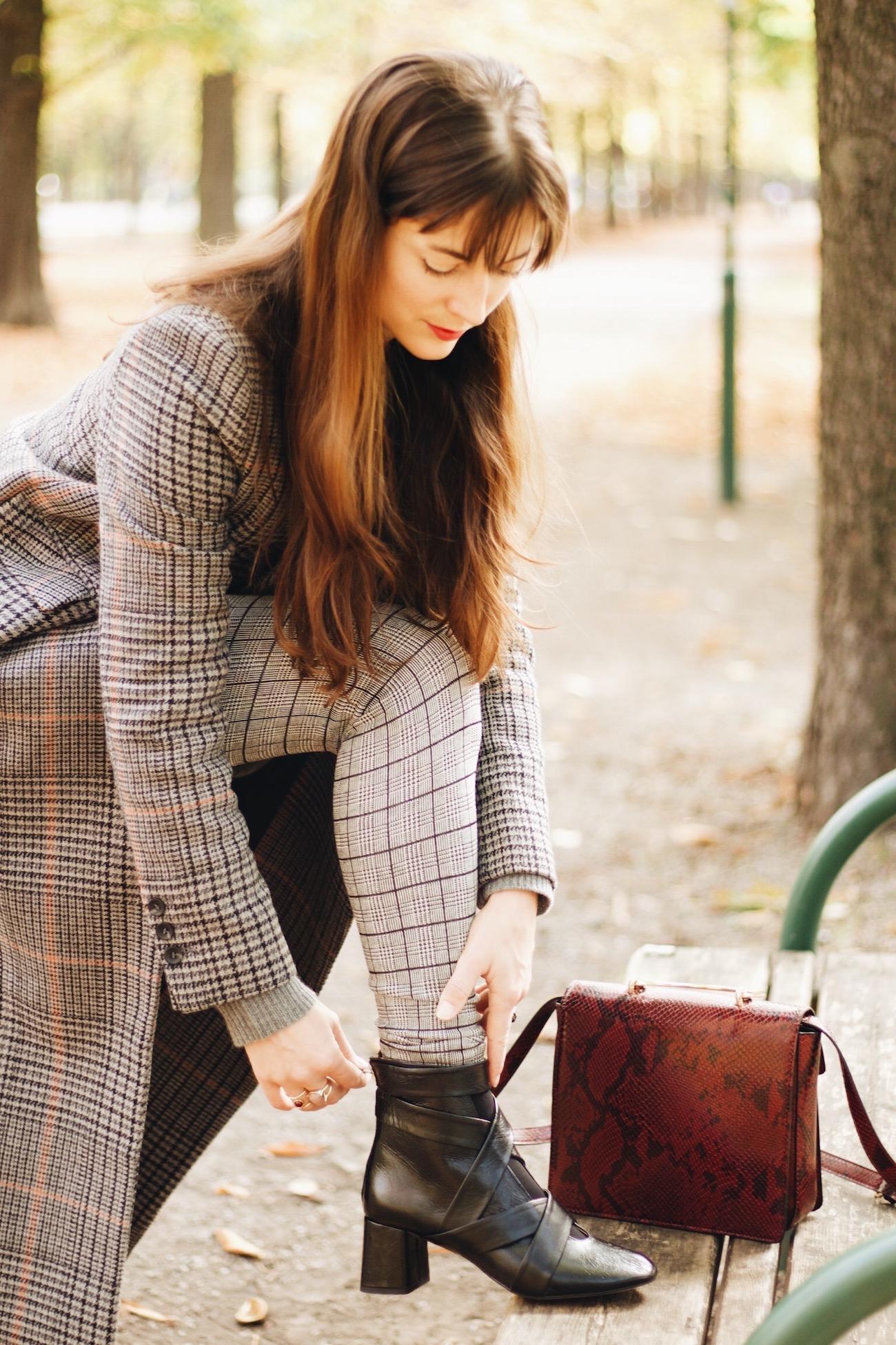 Karomuster Modetrend Herbst Winter 2016 Karierter Mantel H&M Modeblog Fashionpost