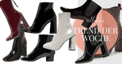 Lack Stiefeletten sind einer der Schuhtrends Herbst Winter 2016 alle Infos auf meinem Modeblog
