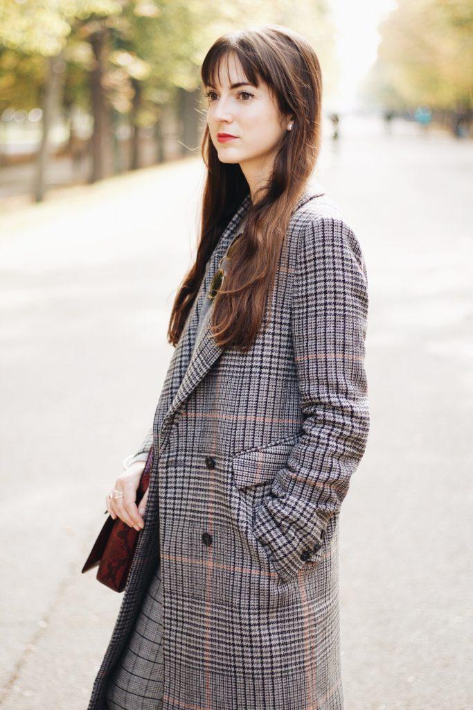 Karo ist ein Modetrend Herbst Winter 2016 heute ein Fashionpost auf meinem Modeblog mit Karo Mantel von H&M