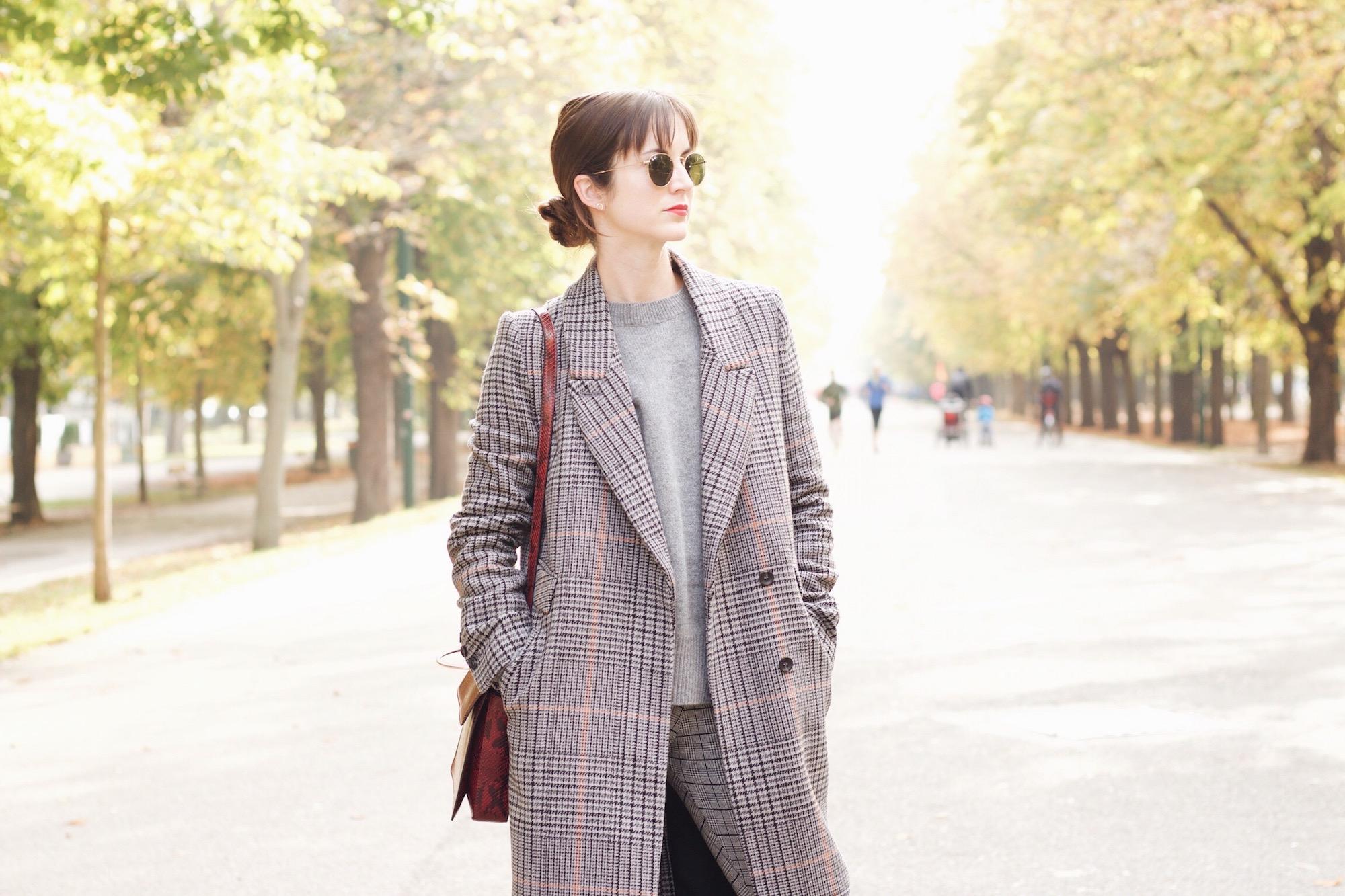 Mein neuer Mantel von H&M im Karomuster heute auf meinem Modeblog