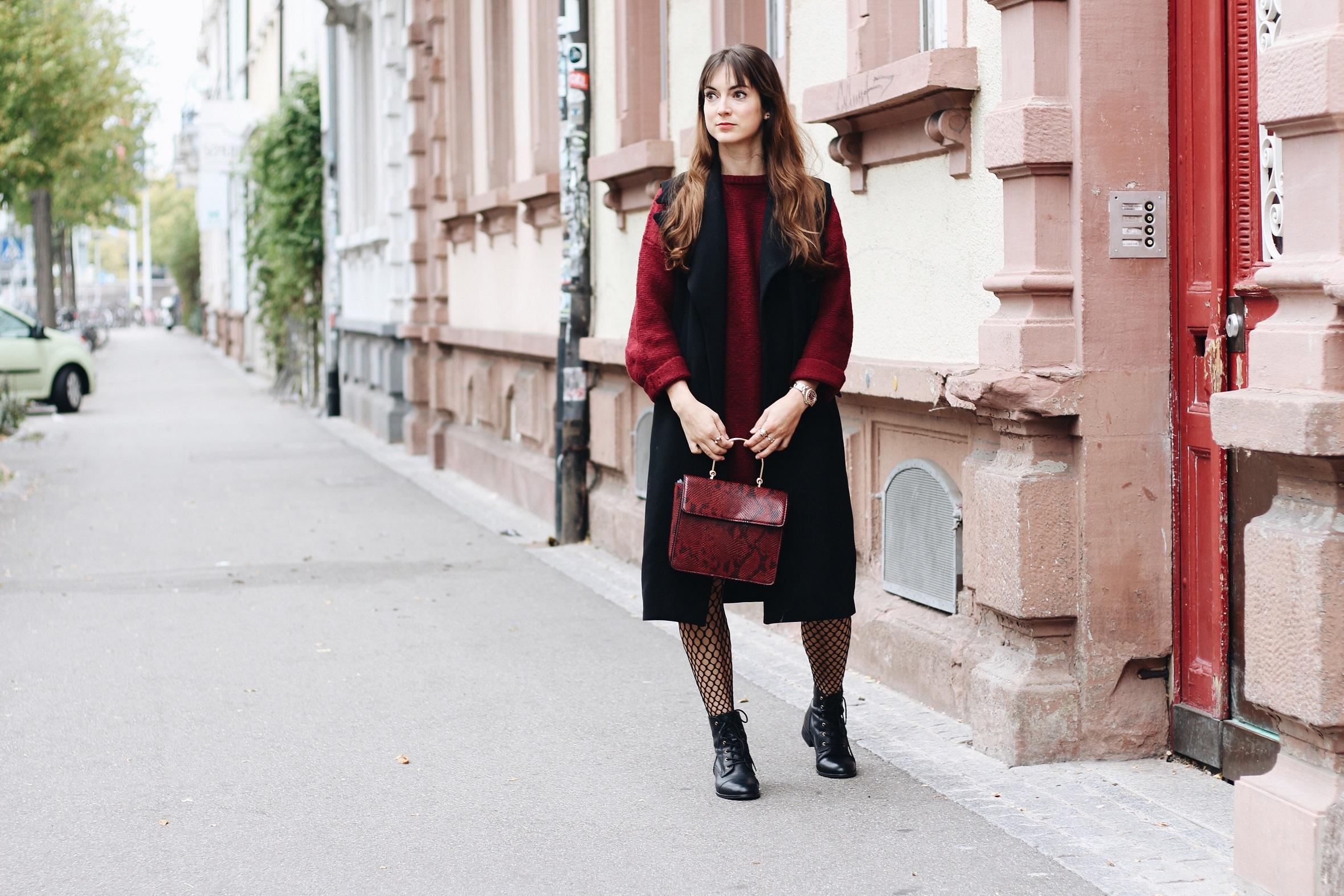 Der Modetrend Netzstrumpfhose heute auf meinem Modeblog