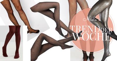 Strumpfhosen Tights und Netzstrumpfhosen sind eine Modetrends im Herbst Winter 2016