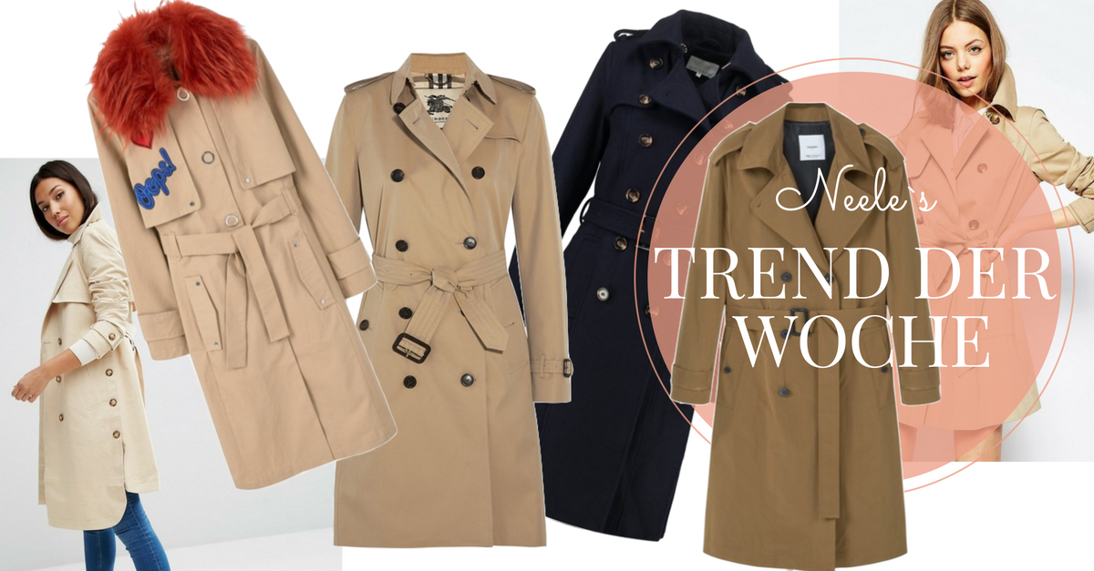 big sale 0a15b 5264e Trenchcoat - Der Trend der Woche - Just a few things | Der ...