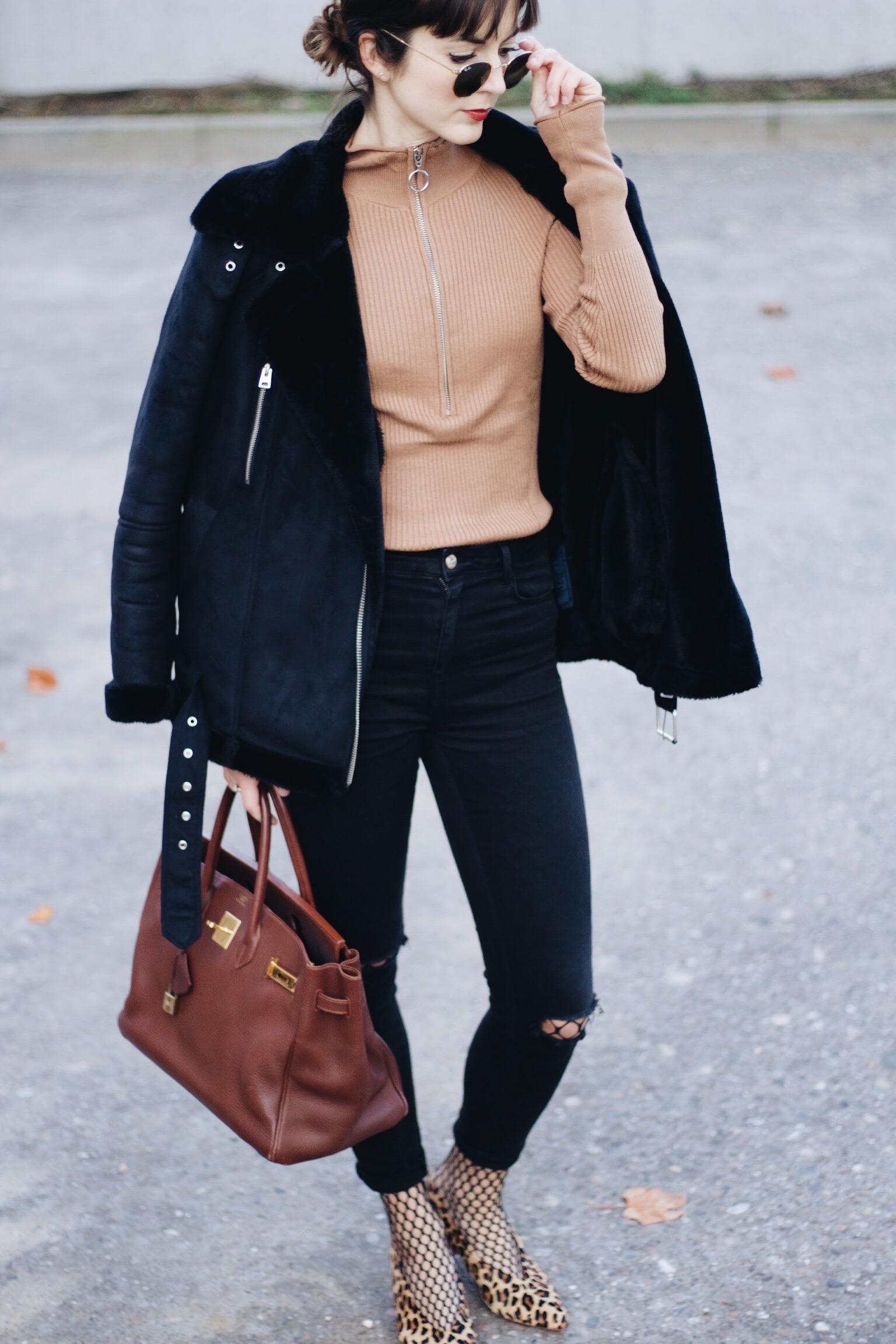Birkin Bag Leo Pumps und Netzstrumpfhose heute auf meinem Modeblog