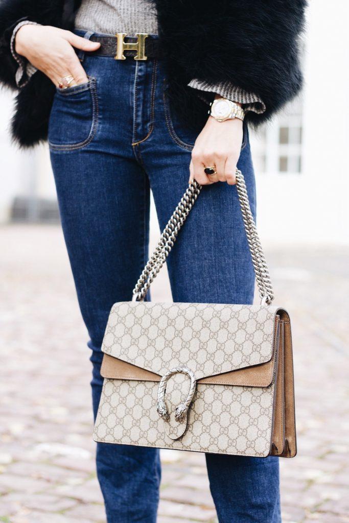 Federjacke von Pello Bello kombiniert für meinen Modeblog Felljacken Trend