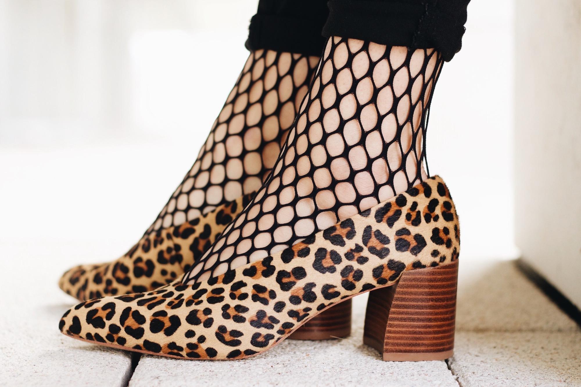 Leo Pumps Zara und Netzstrumpfhose von Wolford auf meinem Modeblog