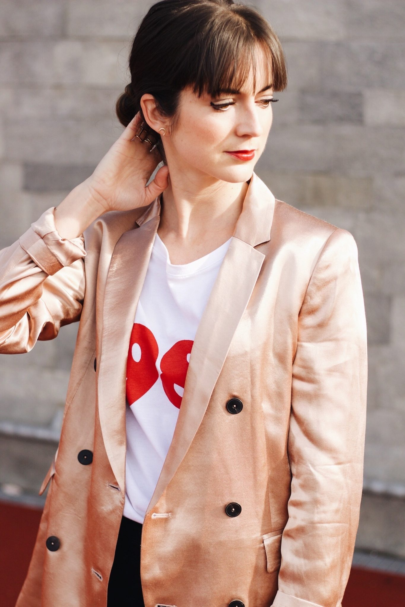 Der Metallic Trend kombiniert für meinen Modeblog