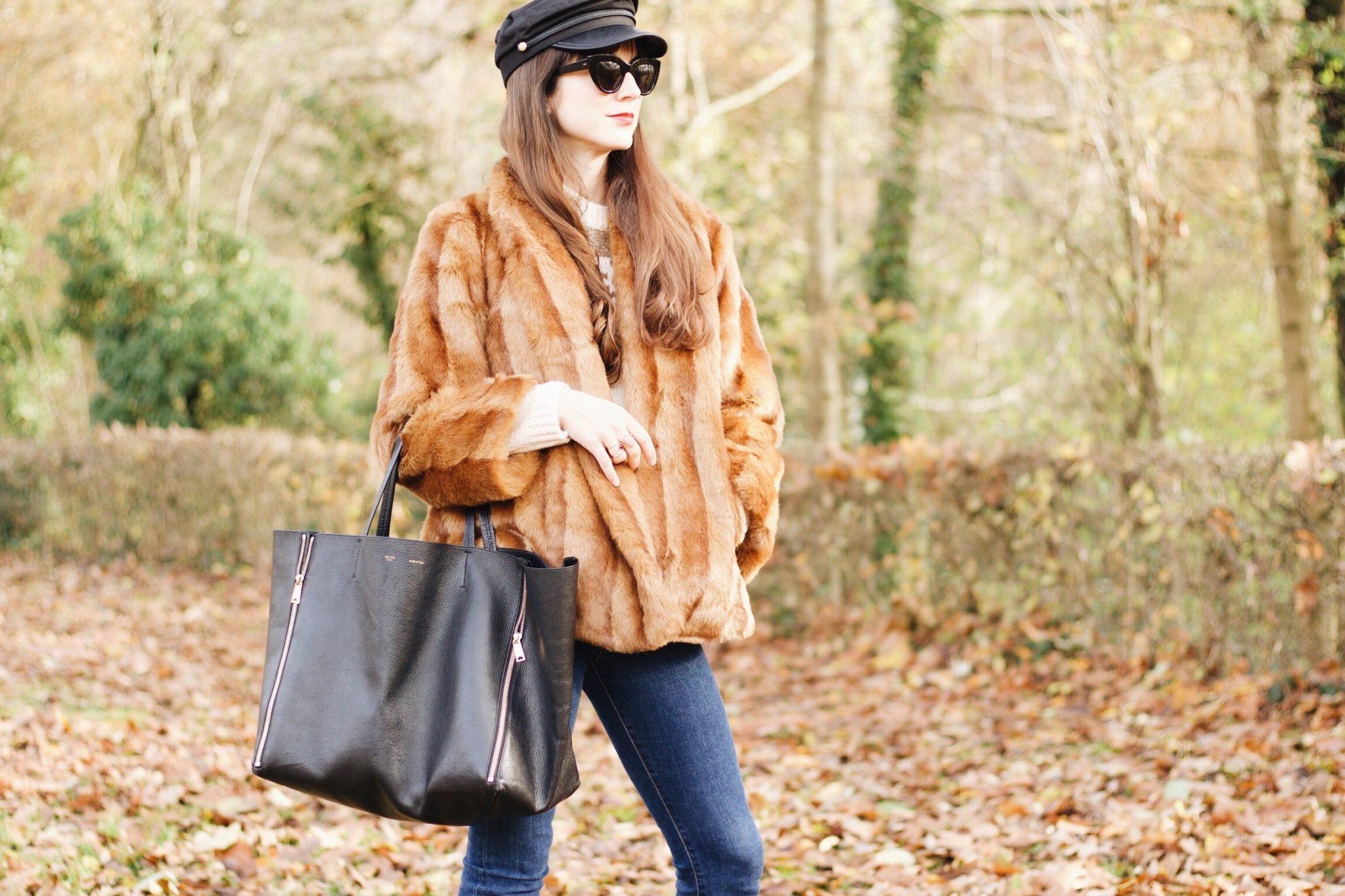Meine Felljacke von Asos auf meinem Modeblog
