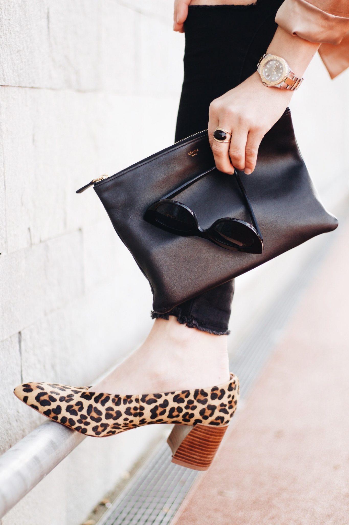 Céline Trio Bag, Leo Pumps und Ace und Tate Sonnenbrille auf meinem Modeblog
