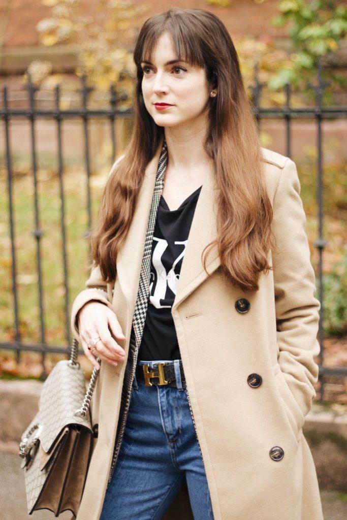 Modeblog Post mit Wintermantel von Edited und Gucci Dionysus Bag und Lack Stiefeletten
