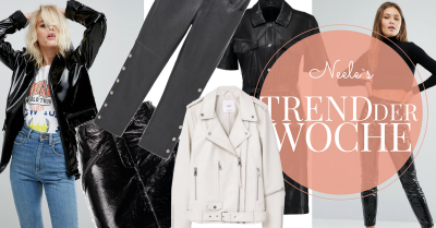 Lack und Leder sind einer der Modetrends Frühjahr Sommer 2017