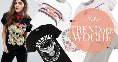 Print und Logo Shirts sind ein Modetrend Frühjahr Sommer 2017
