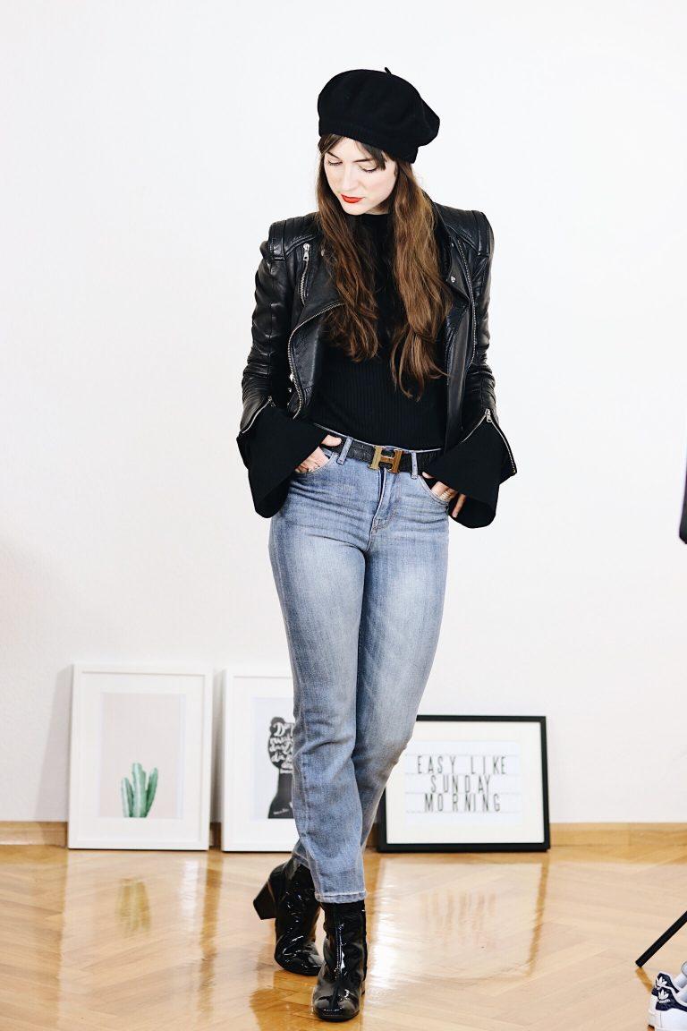 Der Modetrend Kick Flare Jeans in meinem heutigen Outfitpost mit Video