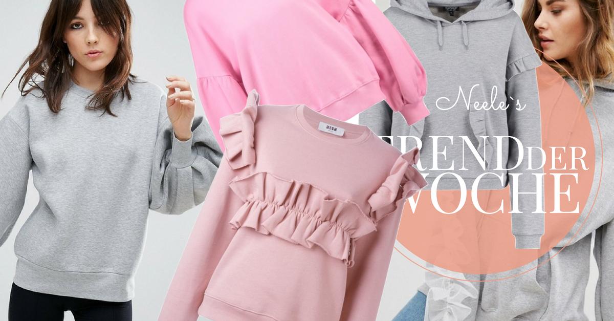 Statement Sweatshirts sind einer der Modetrends Frühling Sommer 2017