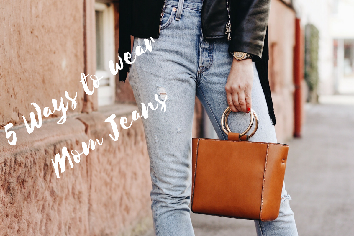 Fünf Ideen wie ihr Mom Jeans kombinieren könnt auf meinem Modeblog