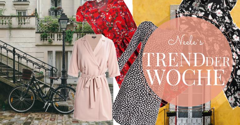 Wickelkleider mit Millefleurs der French Chic Trend auf meinem Modeblog