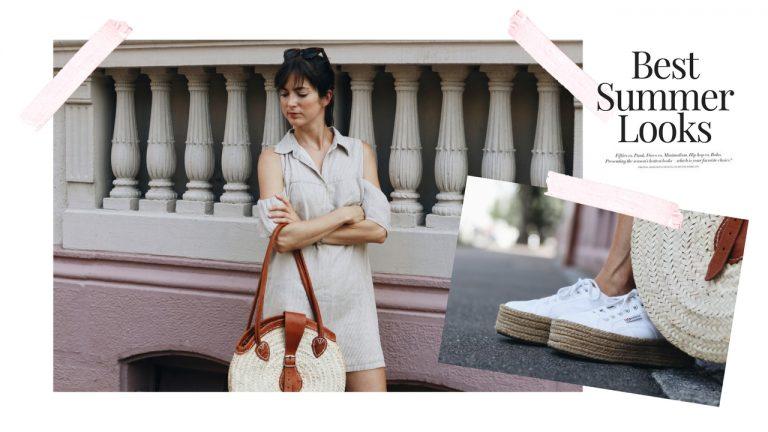 Streifen-Kleid-Korbtasche-Birkin-Basket-Cold-Shoulder-Celine-Plateau-Espadrilles-Superga-Sommerkleid-Modetrends-Klassiker-Basttasche-Outfit-streetstyle