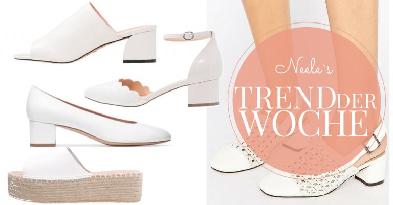 Weiße Schuhe sind einer der Schuhtrends 2017 alle Infos auf meinem Fashionblog