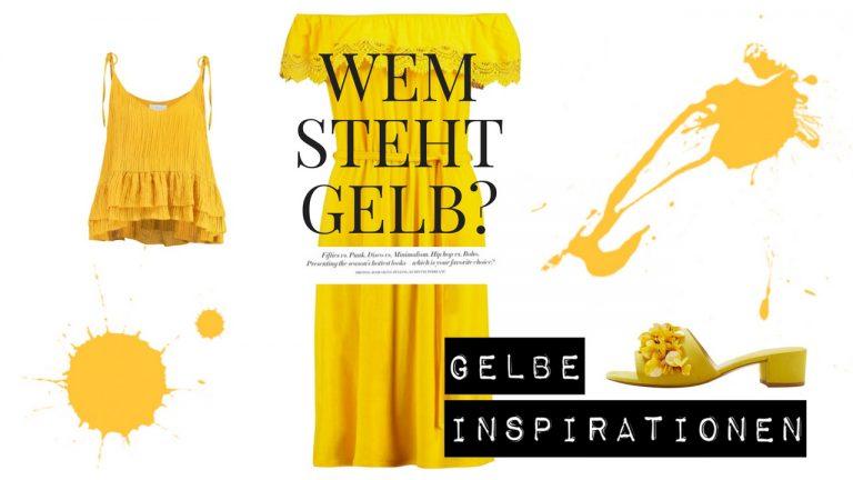 gelb kombinieren - Wem steht die Farbe gelb