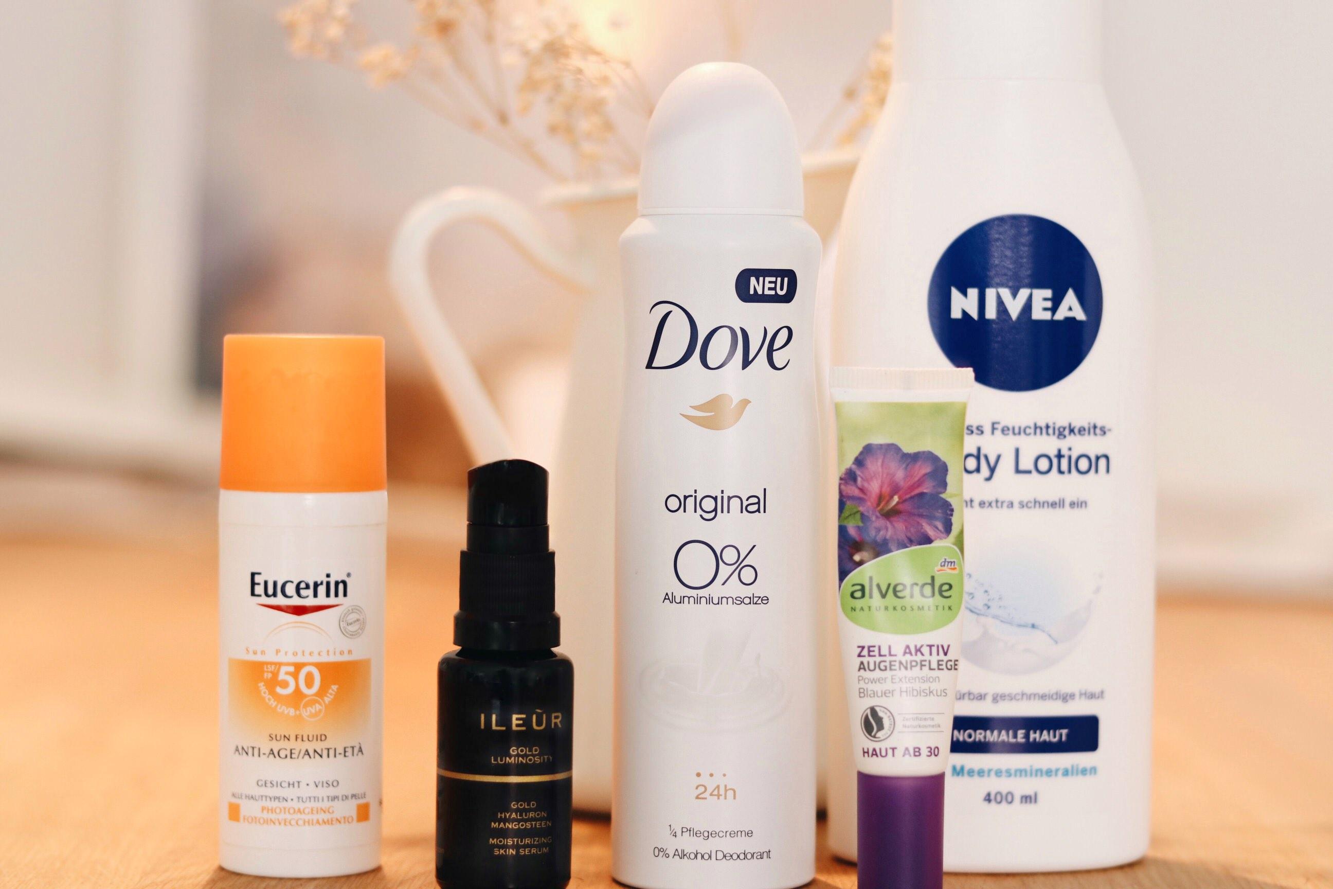 Blogger-beauty-produkte-lieblinge-eucerin-ileur-dove-alverde-nivea
