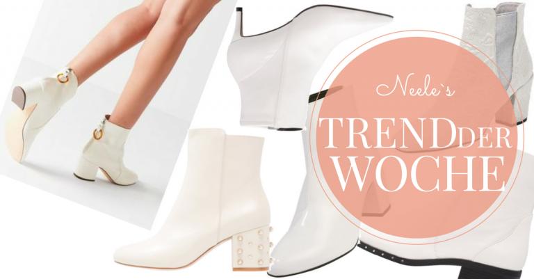 Weisse Stiefeletten Schuhtrends Herbst Winter 2017 auf meinem Modeblog
