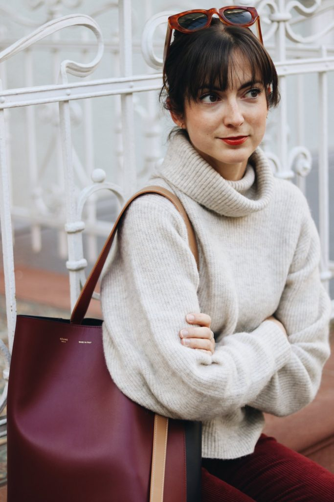 Herbst Winter Outfit kombinieren Samt Cord Modetrends 2017 Blogger