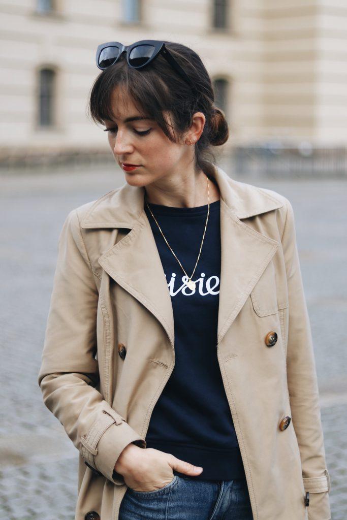 Neele Modebloggerin Deutsch Fashionblog Outfit Trenchcoat kombinieren