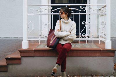 Outfit Cord Samt Hose Celine Bag Sonnenbrille Streetstyle Look Fashionblog
