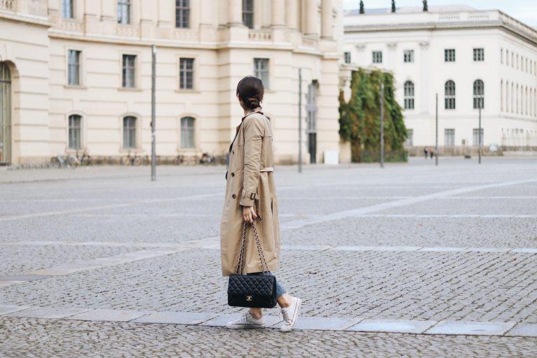 Street Fashion wie kombiniere ich einen Trenchcoat Mode Trends Herbst Winter 2017 2018