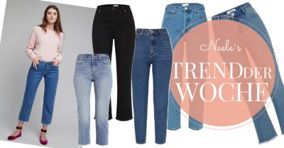 Der Modetrend Cropped Jeans Kick Flare Jeans auf meinem Modeblog