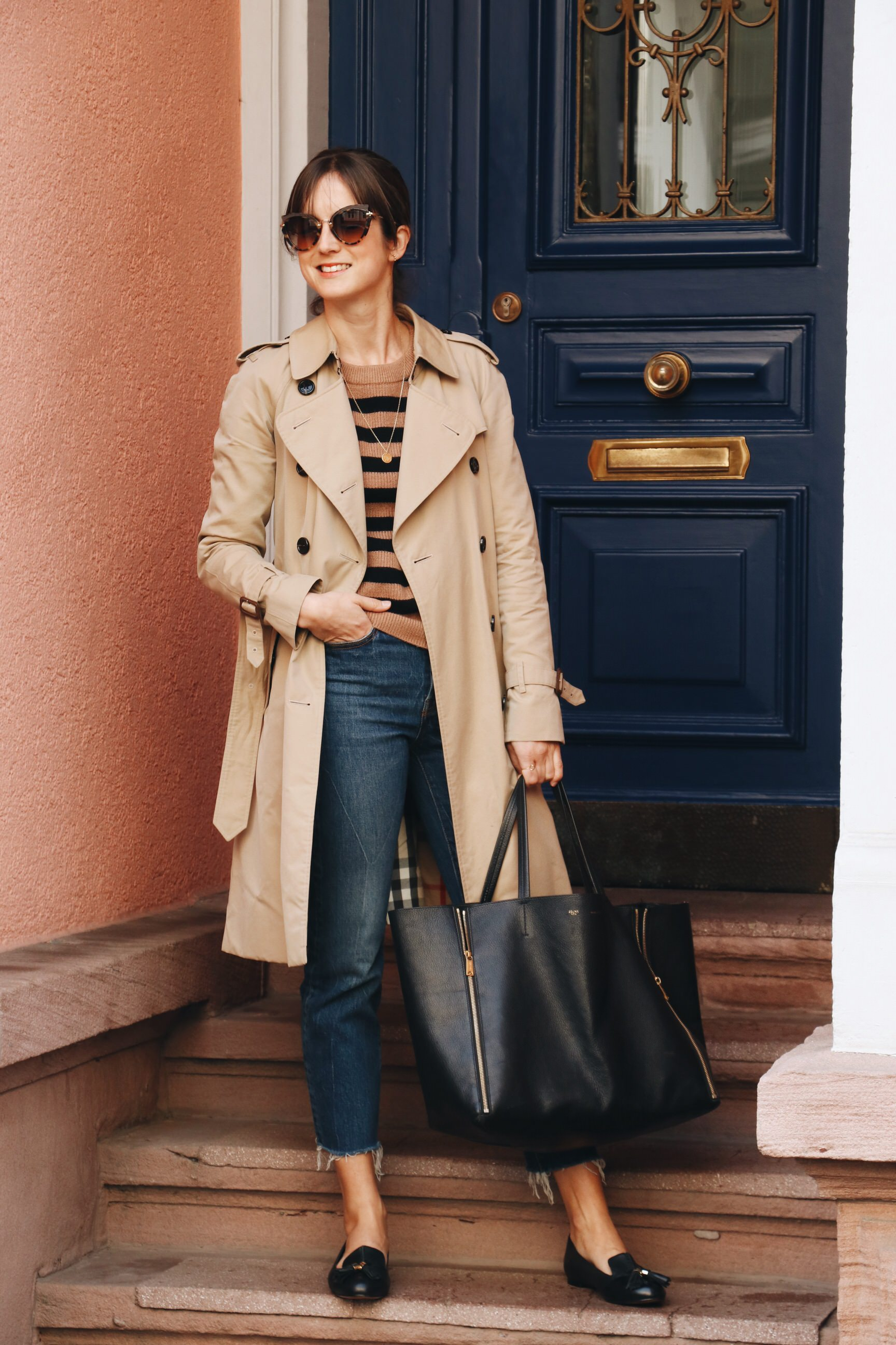 Herbst Look Trenchcoat kombinieren Outfit Modeblog Fashionblog Deutschland Blogger