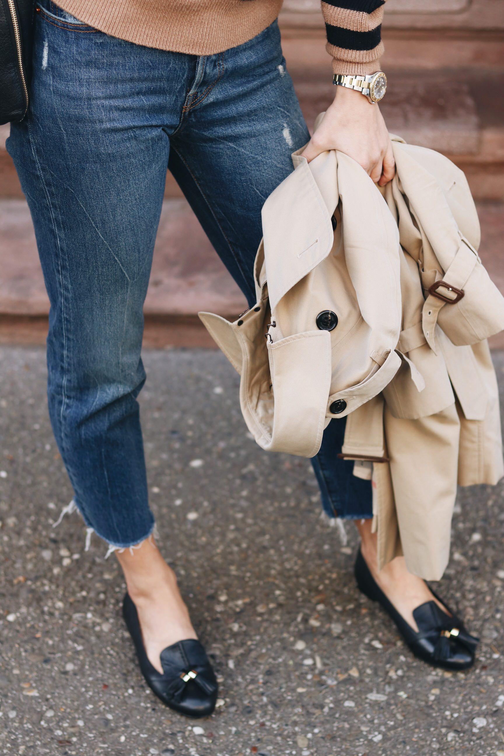 Loafer kombinieren Herbst Look Outfit Blog Modeblog
