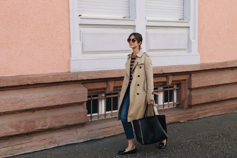 Modeblog Outfit Streetstyle Modebloggerin Fashionblog Blog Look Trenchcoat kombinieren