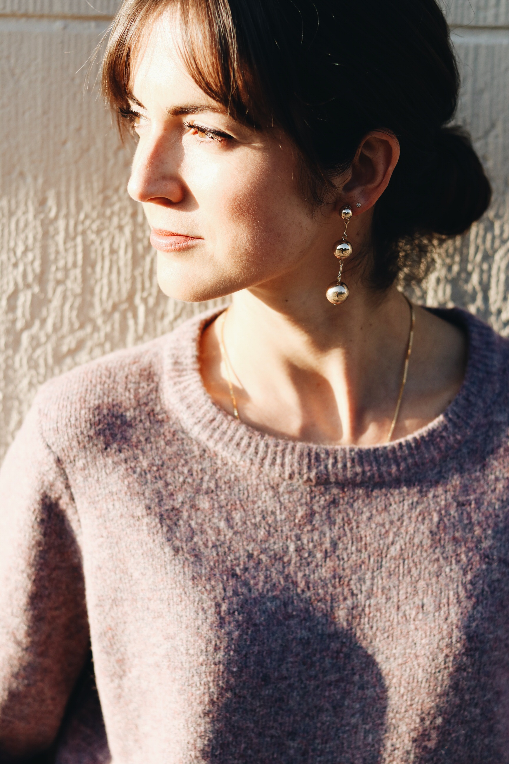 NEele Modebloggerin Modeblog Flieder Strick Pullover