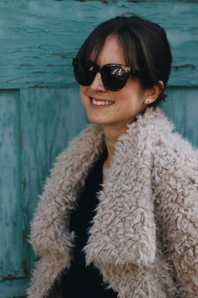 Neele Bloggerin Modeblog Outfit Streetstyle Fake fur Winterjacke
