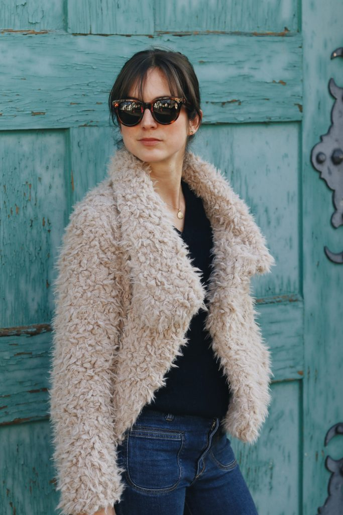 Fake fur Jacke Outfit Modeblog Mode Blog Streetstyle